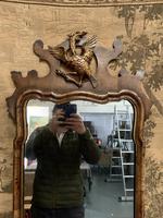 19th Century Mahogany Wall Mirror with Eagle Decoration (2 of 6)