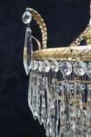 Art Deco Italian Three Tier Crystal Glass Chandelier (5 of 7)