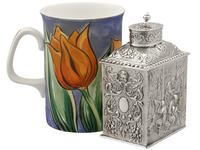 Sterling Silver Tea Caddy - George V 1925 (11 of 15)