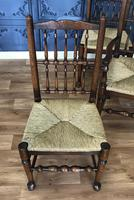 Set of Six Oak Spindle Back Dining Chairs (4 of 12)