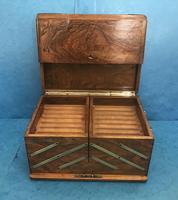 Victorian Brassbound Walnut Cigar Box (17 of 19)