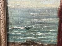 """Pair of Victorian Oil Paintings """"Cockle Pickers"""" Female Figures on Beach Shoreline (29 of 33)"""