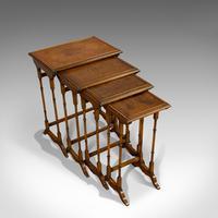 Antique Quartetto of Tables, English, Walnut, Mahogany, Nest, Edwardian, C.1910 (3 of 10)