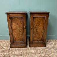 Stunning Pair of Burr Walnut Bedside Cabinets