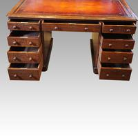 Victorian Oak Pedestal Desk (4 of 11)