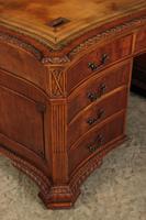 Large Mahogany Serpentine Shaped Partners Desk (12 of 20)