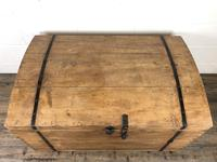 Large Antique Pine Dome Top Trunk (9 of 9)