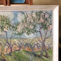 Impressionist Artist Gaussen - Oil on Board - Olive Trees c.1945 (5 of 9)