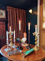 19th Century Wooden Turned Candlesticks (6 of 8)