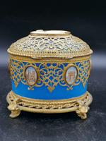 Exclusive Large Box / Box in Blue Opaline Glass with Miniatures from Paris / Palais-Royal (4 of 7)