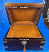 Victorian Brassbound Rosewood Writing Slope (15 of 20)