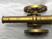 Small Antique French Victorian 19th Century Brass Cannon Ornament (15 of 18)