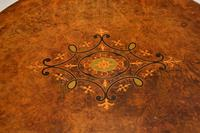 Antique Victorian Inlaid Walnut Occasional Table (8 of 9)