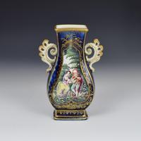 Chelsea Porcelain Gold Anchor Period Blue Ground Vase c.1765 (5 of 14)