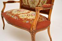 Antique French Needlepoint Salon Two Seater Sofa (7 of 12)