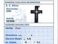 Black Onyx, Diamond, Yellow Gold Cross Pendant (7 of 9)