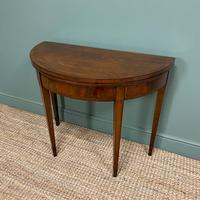 Stunning Demi Lune Mahogany Antique Card / Games Table (7 of 7)