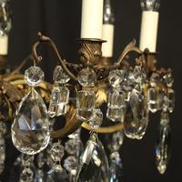 Italian 8 Light Gilded Bronze Antique Chandelier (5 of 10)