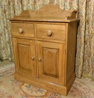 Vintage Stripped Pine Cupboard with Shaped Back (7 of 8)