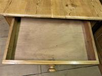 Victorian Pine Kitchen Table c.1860 (4 of 8)