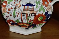 19th Century Real Stone China Jug with Chinoiserie Decoration (8 of 11)