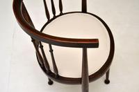 Antique Edwardian Mahogany Tub Chair (7 of 10)
