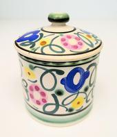 Honiton Pottery Jar 'Sweet Pea' 1930s (2 of 6)