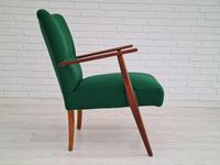 Danish Design, Completely Renovated Armchairs 1970s, Kvadrat Wool, Teak (12 of 15)