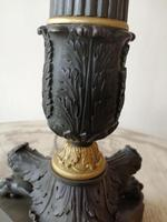 Fine quality pair of French bronze & ormulu table lamps (4 of 9)