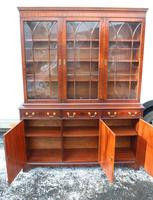 1960s 3 Door Mahogany Bookcase with Glazed Top (5 of 5)