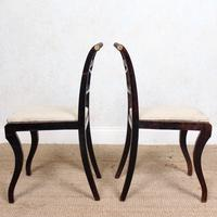 4 Regency Ebonised Dining Chairs Trafalgar (8 of 12)