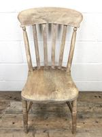 Pair of Antique Slat Back Farmhouse Kitchen Chairs (5 of 9)