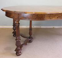 Antique Burr Walnut Extending Dining Table Eight Seater (10 of 14)
