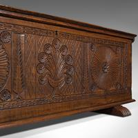 Large Antique Coffer, Italian, Walnut, Sword Chest, Linen Trunk, 18th Century (10 of 12)