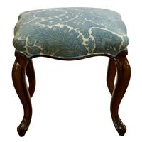 Victorian Rosewood Stool on Cabriole Legs (3 of 4)