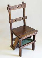 Victorian Metamorphic Oak Library Step Chair (13 of 13)