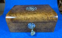 Victorian Walnut Jewellery Box with Inlay (7 of 15)