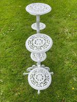 Victorian 19th Century Garden Cast Iron Painted White 6 Branch Plant Stand (21 of 47)