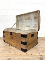 Rustic Antique Pine Dome Top Trunk (8 of 9)