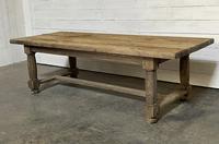 Rare Large & Deep Oak Farmhouse Dining Table (3 of 31)