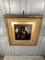Antique Re-Raphaelite oil painting portrait of a young man with violin (2 of 2) (8 of 10)