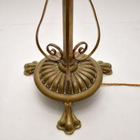 Antique Solid Brass Rise & Fall Floor Lamp (5 of 9)