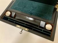 Antique Victorian Rosewood Abalone Mother of Pearl Inlaid Writing Slope Box (3 of 13)