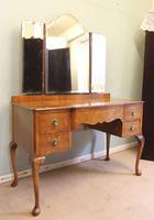 Antique Burr Walnut, Triple Mirror Shaped Dressing Table (11 of 12)