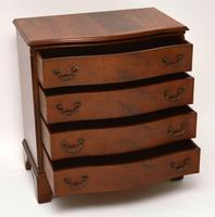 Antique Georgian Style Flame Mahogany Serpentine Chest of  Drawers (3 of 9)