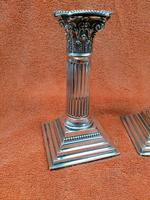 A Pair of Antique Sterling Silver Hallmarked 1895 Candle Sticks (11 of 12)