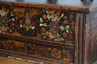 19th Century Austrian Folk Art Painted Pine Coffer (6 of 23)