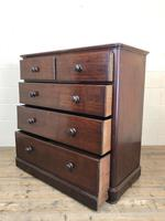Victorian Mahogany Straight Front Chest of Drawers (10 of 16)