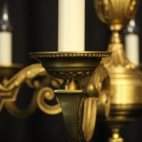 French Gilded Bronze 6 Light Chandelier (5 of 10)