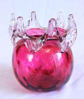 Antique Victorian Cranberry Glass Vase